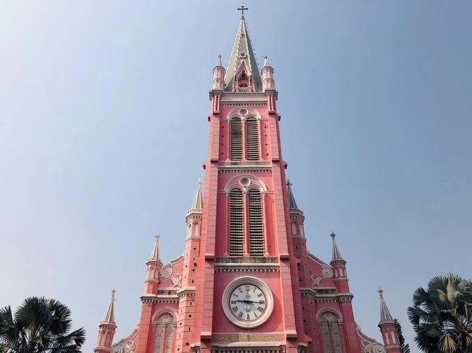 吃货在越南的网红美食与景点打卡深度游路线攻略之越南耶稣圣心堂(粉红教堂)