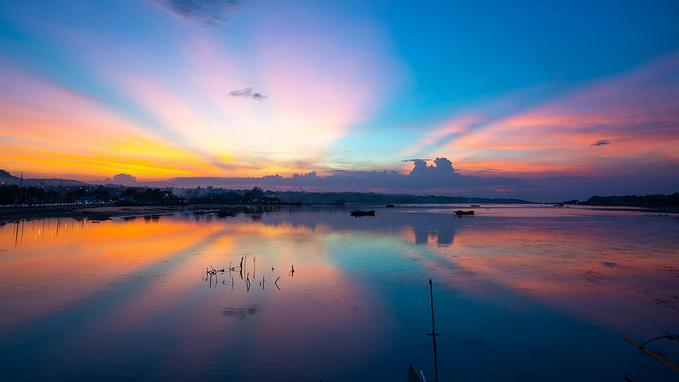 菲律宾超实用热带岛屿旅游美食行程攻略之看日落 Dauis bridge