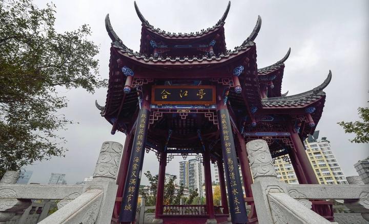 四川成都网红美食旅游打卡全攻略之锦江边的合江亭